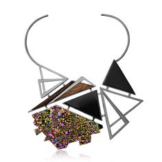 #mariadolores #urockcollection #raw #stones #crystal #wood # woodjewelry #jewelry # statementjewelry #accessories # style #fashion # unique #uniquejewelry #customjewelry  #gioiello # wearableart #choker #chocker #neckpiece #necklace #geometric #drusy #multicolor #art