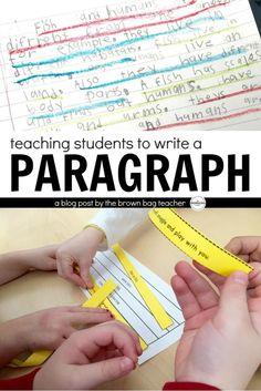 teaching writing a paragraph elementary