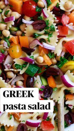 Healthy Summer Recipes, Healthy Pastas, Vegan Pasta Salads, Pasta Salad Recipes Cold, Vegetable Salad Recipes, Healthy Organic Recipes, Easy Healthy Vegetarian Recipes, Healthy Quick Meals, Summer Pasta Recipes