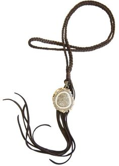 Adamas Stag Fringe Necklace - Hottest Designer Pearl and Leather Jewelry   VINCENT PEACH  - 1