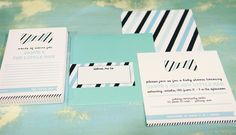 """Little Man"" themed baby boy shower with bow ties and stripes"