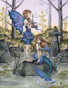 Fairy Art Artist Amy Brown: The Official Online Gallery. Fantasy Art, Faery Art, Dragons, and Magical Things Await. Fairy Dragon, Amy Brown Fairies, Mermaid Fairy, Brown Artwork, Fantasy Art, Mermaid, Faery Art, Art, Fairy Art