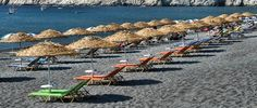 GREECE CHANNEL | Santorini's black sand beach of Kamari