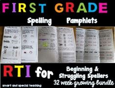 This Spelling Pamphlet Bundle was created to help beginning and struggling spellers to have a strong basis to become good spellers. These activities focus on phonemic awareness and visual and auditory memory. Each week has 4 days of work plus an assessment day. There are keys for each lesson so that... First Grade Spelling, Dyslexia Activities, Teaching Reading, Learning, Dysgraphia, Gillingham, Phonemic Awareness, Assessment, Keys