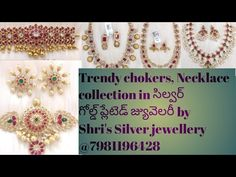 Shri's Silver jewellery Collections - YouTube Silver Jewellery Indian, Silver Jewelry, Silver Rings, Jewelry Collection, Jewelery, Chokers, Gold Necklace, Earrings, Collections