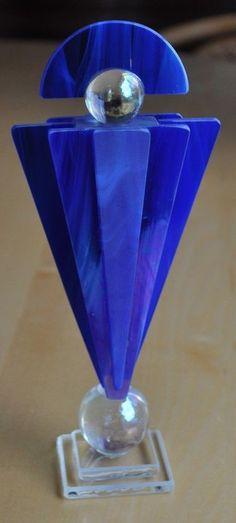 Cobalt Blue Glass Perfume Bottle