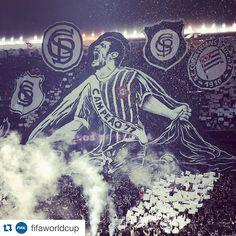 "Sport Club Corinthians Paulista - ""#EhNóisNaFIFA  #Repost de @fifaworldcup ・・・ Fans of @Corinthians celebrate the 105th birthday of the club during the Serie A match against @FluminenseFC.…"""
