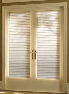 French doors soft shades 222x300 Window Treatment Ideas For French Doors