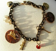 My husband is my hero - Firefighter Wife Charm Bracelet. Etsy.com