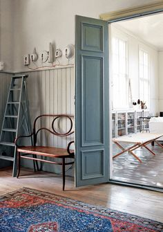 the bench...my scandinavian home: A Swedish artist's home in a former school house