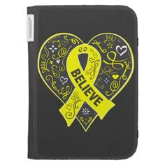 Testicular Cancer Believe Ribbon Heart Case For Kindle
