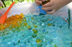 sensory bin fun with kids
