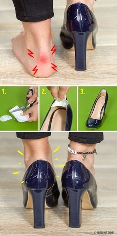 10 ingenious tips to make your life 10 times easier, even though you haven& managed to become an Internet phenomenon yet Diy Clothes Hacks, Clothing Hacks, Diy Vetement, Tips Belleza, Ring Verlobung, Pumps, Heels, Character Shoes, Life Hacks