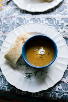 Stay home and keep cozy this weekend with this roasted root vegetable soup. Is there anything better than a good night in?