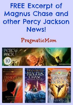 FREE Excerpt of Magnus Chase and other exciting news from Rick Riordan! :: PragmaticMom #ReadRiordan
