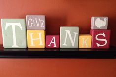 Thanksgiving blocks give thanks by CraftyCierra on Etsy, $10.00