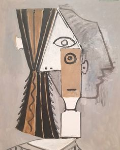 'woman's head' by pablo picasso Pablo Picasso, Picasso Collage, Picasso Portraits, Picasso Art, Picasso Paintings, Face Collage, Collage Art, Artists And Models, Spanish Artists