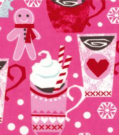 Snuggle Flannel Fabric Winter Cocoa Pink for matching pajama pants