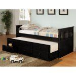 Coaster Furniture La Salle Twin Captains Bed with Trundle and Storage Drawers - The straight headboard and footboard with slat details gives this Coaster Furniture La Salle Collection Twin Captains Bed with Trundle and Storage Drawers...