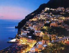 Amalfi Coast, Italy - night time