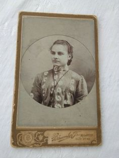 Antique HUN CDV/visit card young girl, Baumler T. Budapest, Vintage Ladies, Antiques, Cards, Ebay, Antiquities, Antique, Maps, Playing Cards