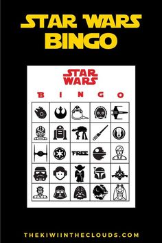 Star Wars Party Printables | If you're throwing a Star Wars themed birthday party then you MUST check out this insane bundle of Star Wars FREE printables! This bundle includes an invitation, thank you card tags, food tent cards, mini water bottle labels, and even bingo cards!!! Yes, jackpot!: