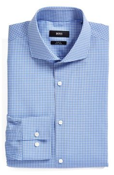 BOSS 'Jason' Slim Fit Easy Iron Check Dress Shirt