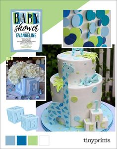 Baby block shower theme ideas on the Tiny Prints blog.