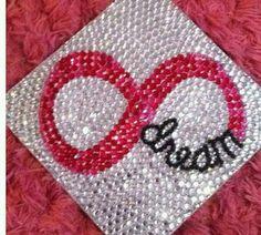 Decorate your graduation cap with bedazzle! #graduation
