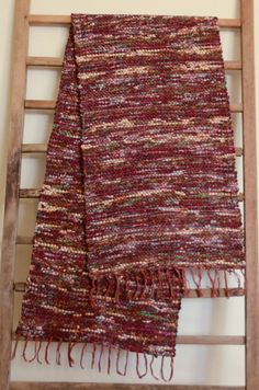 Hand Woven Table Runner   Burgundy Cotton by StudioatRedTopRanch