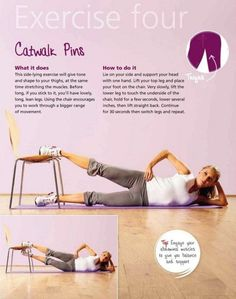 Catwalk Pins - lean and toned thighs-i've done this before and it burns!