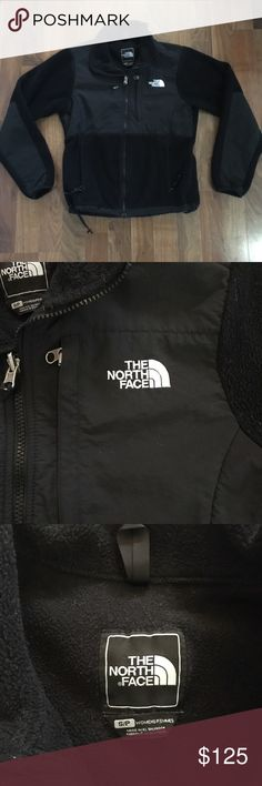 North Face Full Zip Fleece Jacket Small Black This North Face jacket is a full zip jacket that has three pockets, adjustable bungee hem, and clips on the sleeve for gloves. It is fleece lined, and black. Pre-owned but in good condition. North Face Jackets & Coats Utility Jackets