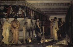 Pheidias and the Frieze of the Parthenon by Sir Lawrence Alma Tadema