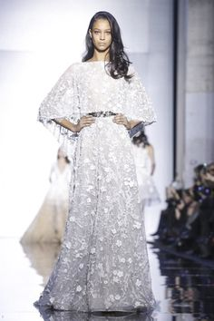 Those who made it to the Zuhair Murad show on Thursday morning really had to want to be there. Access to the show venue had been blocked in all directions by the police because of an impressive pro...