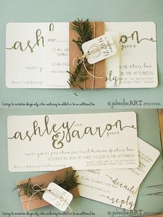 I AM OBSESSED with these stylishly gorgeous wedding invitations, and other lovely details! Take a look and happy pinning!