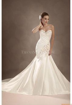 Elegant Sweetheart Sheath Court Train Unique Wedding Dress Sophia Tolli Y11327 - Madge 2013