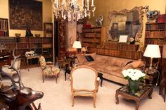 Coco Chanel's living room