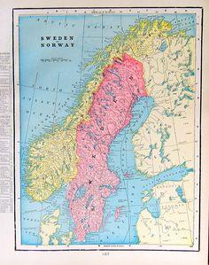 https://flic.kr/p/ajurHY | Old Map Antique 1899