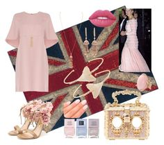 """""""Lulu London"""" by oxandsnake ❤ liked on Polyvore featuring Oriental Weavers, Valentino, Rupert Sanderson, Dolce&Gabbana, Nails Inc., Elegant Touch, Lime Crime, Jacquie Aiche, Shay and Lucifer Vir Honestus"""
