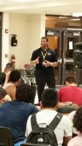 Big shout out to AD Janet Wolbert for arranging the presentation last night by Cecil Martin ex NFL player to our student/athletes on the recruiting process. @cecilmartin1 @UHS_Athletics