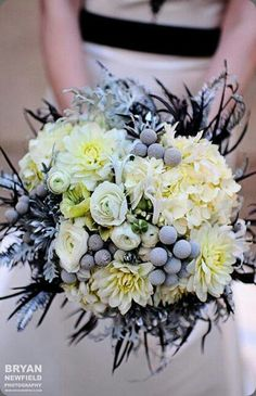 great style - blue wedding bouquet