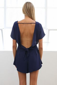 kimberley playsuit - navy | Esther clothing Australia and America USA, boutique online ladies fashion store, shop global womens wear worldwide, designer womenswear, prom dresses, skirts, jackets, leggings, tights, leather shoes, accessories, free shipping world wide. – Esther Boutique