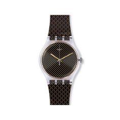 Reloj Swatch Unisex Gridligth SUOK119. Reloj negro y dorado