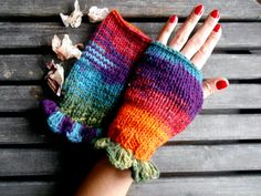 Fingerless gloves handmade Knitted Gloves Gloves by YASEMINYASEMIN