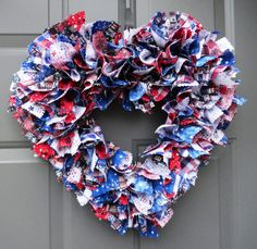 Patriotic 4th of July Shabby Chic Fabric by KristinCraftsALot, $35.00