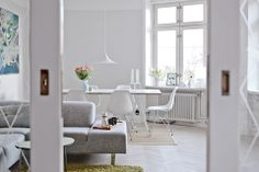 HAY Loop Stand table, Semi pendant by GUBI, Eames DSR.