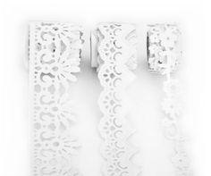 Folia Samtbordüren-Set, weiß, 15 - 35 mm, 3x 1 m € 4,50