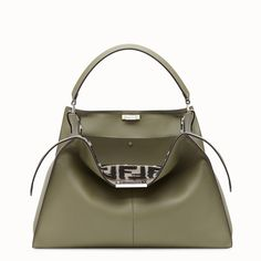 FENDI PEEKABOO X-LITE - Bolso de piel verde - view 1 detail Cosas De f56354179bd