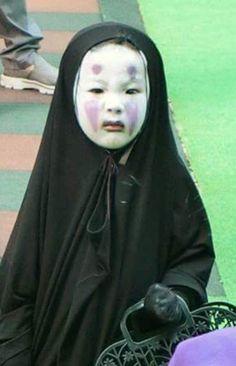Kindergartner's No Face costume. Cute Asian Babies, Korean Babies, Asian Kids, Funny Babies, Funny Kids, Cute Kids, Anime Meme, No Face Costume, Chihiro Y Haku