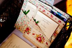 Vintage Fall Wedding - wedding invitations